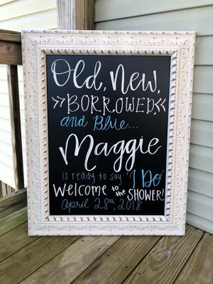Handmade, custom chalk lettering! Great for events and decor! for Sale in Charlotte, NC