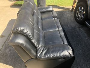black leather couch for Sale in Chesapeake, VA