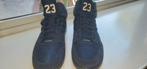 Air Jordan 1 Flight 4 Premium Blue Suede White 23 and Logo Size 11.5 838818-414 for Sale in Fullerton, CA