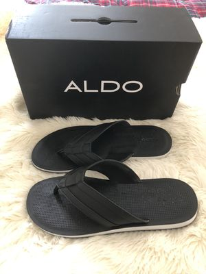 Aldo Black/White Men's Sandals- Size 11 for Sale in West Palm Beach, FL