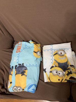 Despicable Me Minion Full Size Sheet Set. No PillowCase for Sale in Orlando, FL