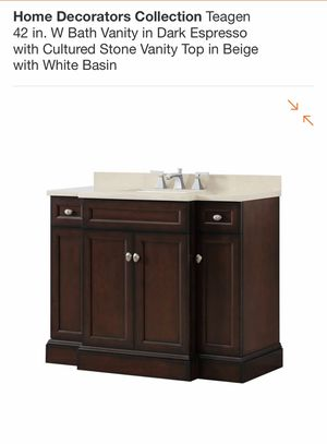 """42"""" Teagan vanity with cultured stone top for Sale in Tumwater, WA"""
