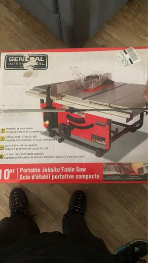 10 portable job site table saw for Sale in Los Angeles, CA