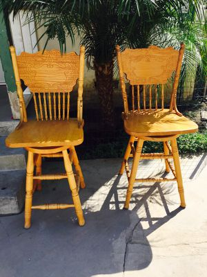 Large wooden bar stools for Sale in Riverside, CA
