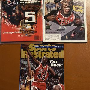 (3) Michael JORDAN Bulls Sports Illustrated Magazines for Sale in Oswego, IL