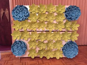 Flowers backdrop wedding quince party for Sale in Austin, TX
