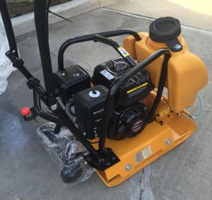6.5 Heavy Duty Gas Plate Compactor, Walk Behind Tamper Rammer With Water Tank for Sale in Columbus, OH