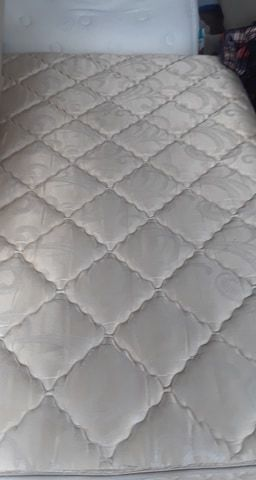 Queen - Delivery: Nice, Clean Serta Pillowtop Standard Double Sided Mattress Set , with box spring- delivery possible. for Sale in Jacksonville, FL