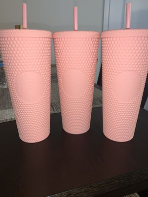 Matte Pink studded Starbucks tumbler for Sale in Granby, CT