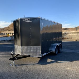 New 7x14 Look Enclosed Trailer * 12 inches extra height * for Sale in Redlands, CA