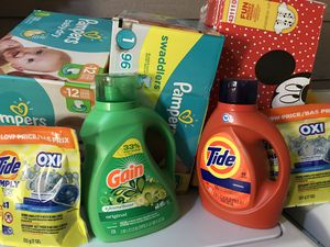 Diapers and laundry detergent for Sale in Tempe, AZ