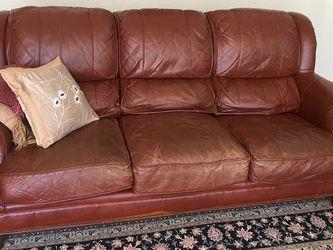 Drexel Heritage Italian Leather Sofa for Sale in Newport Beach,  CA