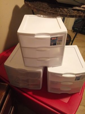 Small plastic drawers for Sale in Dallas, TX