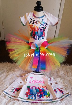 Trolls Birthday Outfit for Sale in Dallas, TX