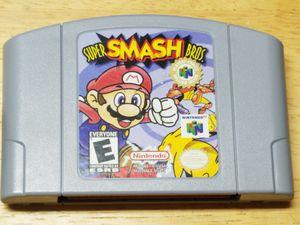 Super Smash Bros Nintendo 64 for Sale in Fresno, CA