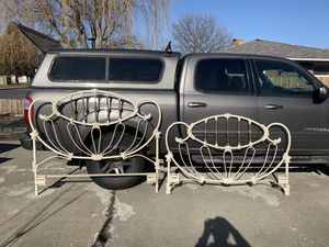 Full size solid metal bed frame for Sale in Spokane, WA