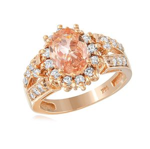 GORGEOUS IMPERIAL TOPAZ ROSE-GOLD 14K GOLD RING WITH DIAMONDS for Sale in Los Angeles, CA