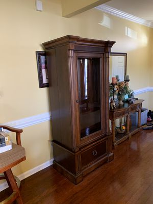 Gun cabinet, beautiful solid wood for Sale in High Point, NC