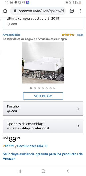 Somier Box Spring Queen Size for Sale in Everett, WA