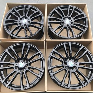 "19"" oem staggered BMW 328i factory wheels 19"" inch gloss black rims 3 series 335i 340i bmw for Sale in Santa Ana, CA"