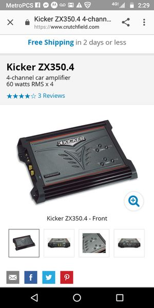 Kicker amp car audio for Sale in Detroit, MI