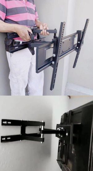 New Universal 32 to 65 inch tv television swivel tilt adjustable full motion tv television wall mount bracket 120 lbs capacity hardware and screws for Sale in Pico Rivera, CA