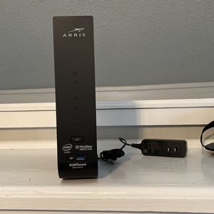 ARRIS - SURFboard Dual-Band SBG7400AC2 with 32 x 8 DOCSIS 3.0 Cable Modem - Black for Sale in Waco, TX