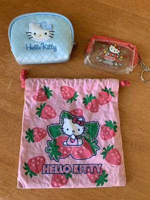 Hello Kitty pouches/small bags for Sale in Cerritos, CA