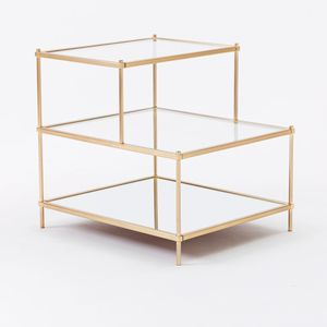 West Elm Antique Brass Terrace Side Table (Set of 2) for Sale in North Miami, FL