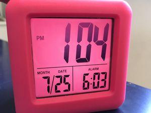 Soft Cube Pink Clock/Alarm Clock for Sale in Redlands, CA