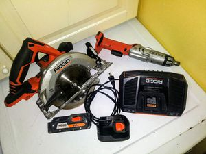 Ridgid 18V gen 5x circular Saw and multi uses drill. for Sale in Lacey, WA