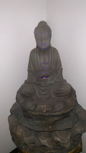 Working Lotus Buddha indoor/outdoor water fountain with LED lights for Sale in Winchester, MA