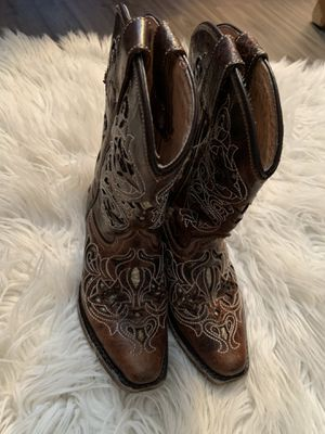 Cowgirl boots size 10 girl for Sale in Dallas, TX