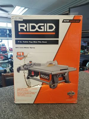 "Ridgid 6.5 Amp Corded 7"" Table Top Wet Tile Saw for Sale in Pompano Beach, FL"