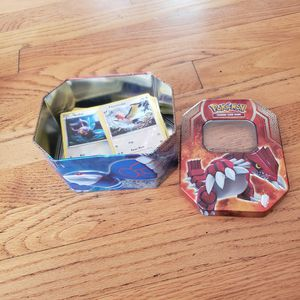 125 Pokémon cards with container for Sale in Franklin Park, IL