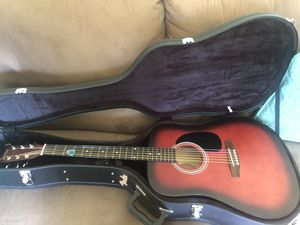 Acoustic guitar and fender hard case for Sale in Sprouses Corner, VA
