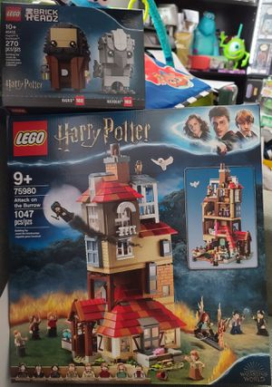 Lego Harry Potter Bundle 75980 Attack On The Burrow & 40412 Hagrid & Buckbeak BrickHeadz for Sale in Coronado, CA