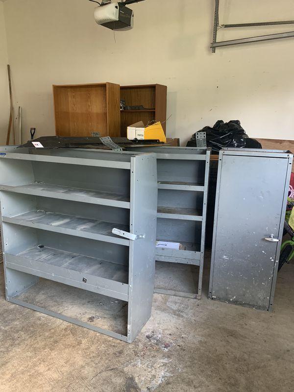 Storage shelves and cage divider