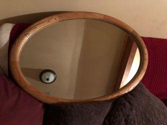 Oak Oval mirror for Sale in Gold Bar,  WA