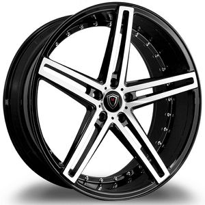 """22"""" STAGGERED MARQUEE 5334 GLOSS BLACK MACHINED RIMS for Sale in Baldwin Park, CA"""