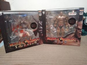(Brand New) Storm Collectibles Bloody Edition's of Goro & Shao Kahn 1:12 Scale Action Figure for Sale in Arvada, CO