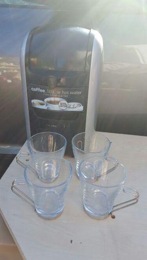 4 Espresso cups and coffee/ tea maker for Sale in Manassas, VA