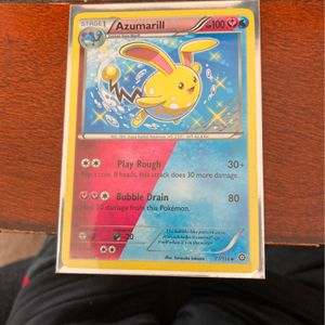 Shiny Azumarill Duel Typing Pokémon Card for Sale in West Linn, OR