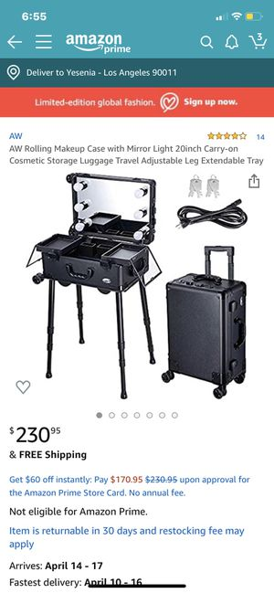 Travel Makeup Vanity for Sale in Los Angeles, CA