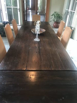 Reclaimed wood dining room table for Sale in Cranford, NJ