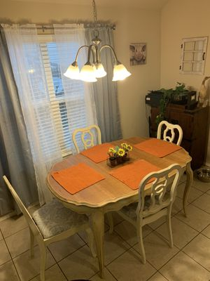 Beautiful Antiqued Kitchen Table With 4 Chairs for Sale in Broken Arrow, OK