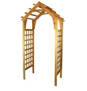 Natural Cedar Garden Arbor 3.7-ft W x 7.4-ft H for Sale in Chino Hills, CA
