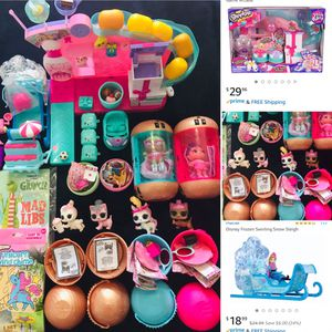 Shopkins Party Set Lol Lot Sleigh for Sale in Fort Pierce, FL