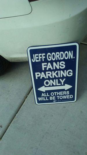Jeff. Gordon parking sign for Sale in Las Vegas, NV