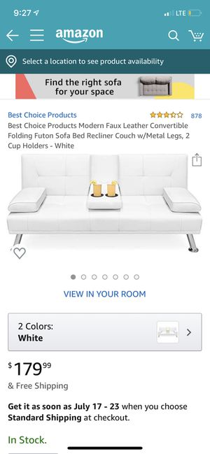 Futon (white) for Sale in Columbus, OH